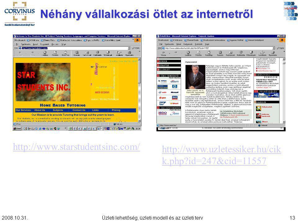 Néhány vállalkozási ötlet az internetről
