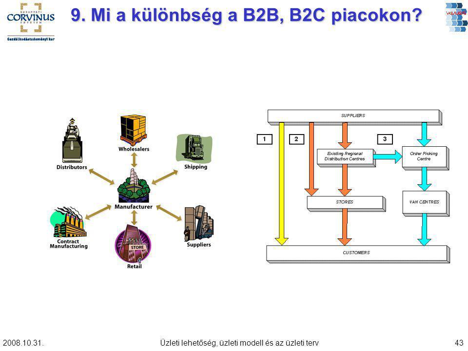 9. Mi a különbség a B2B, B2C piacokon