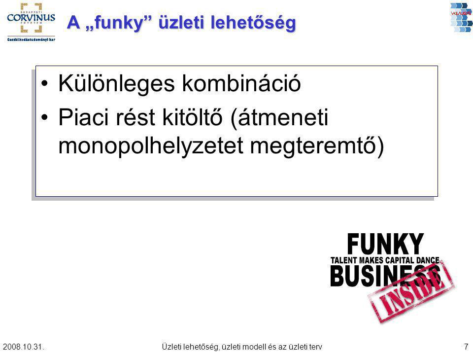 """A """"funky üzleti lehetőség"""