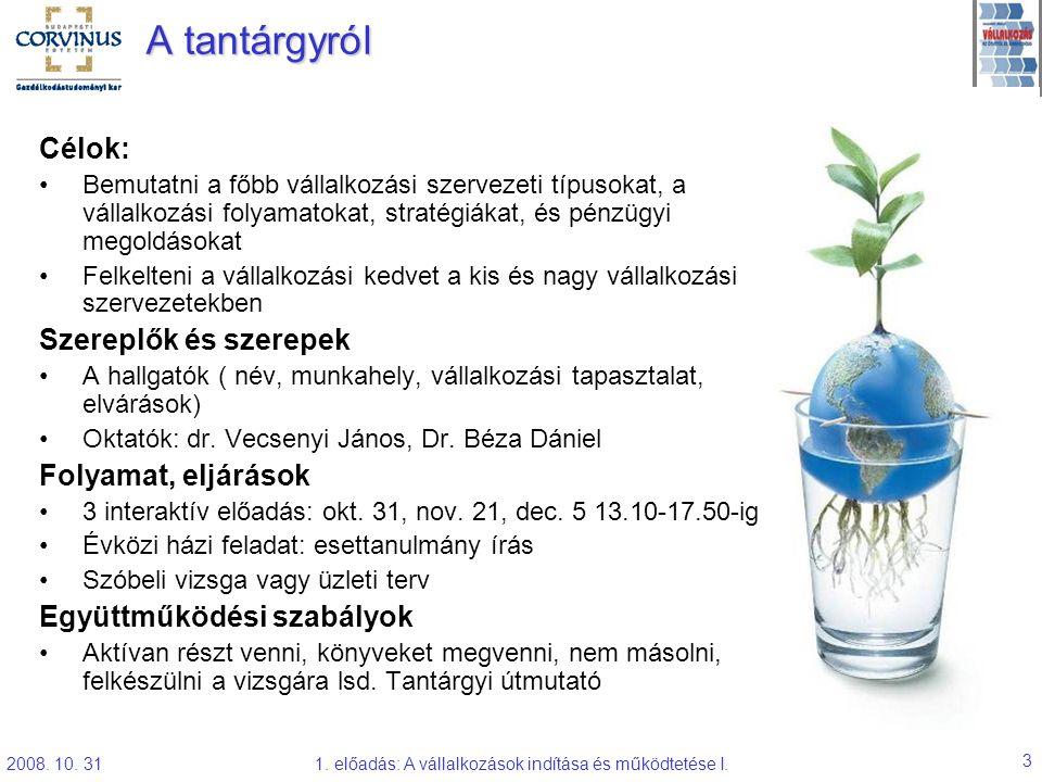 Vecsenyi-Béza: Vállalkozások indítása és működtetése