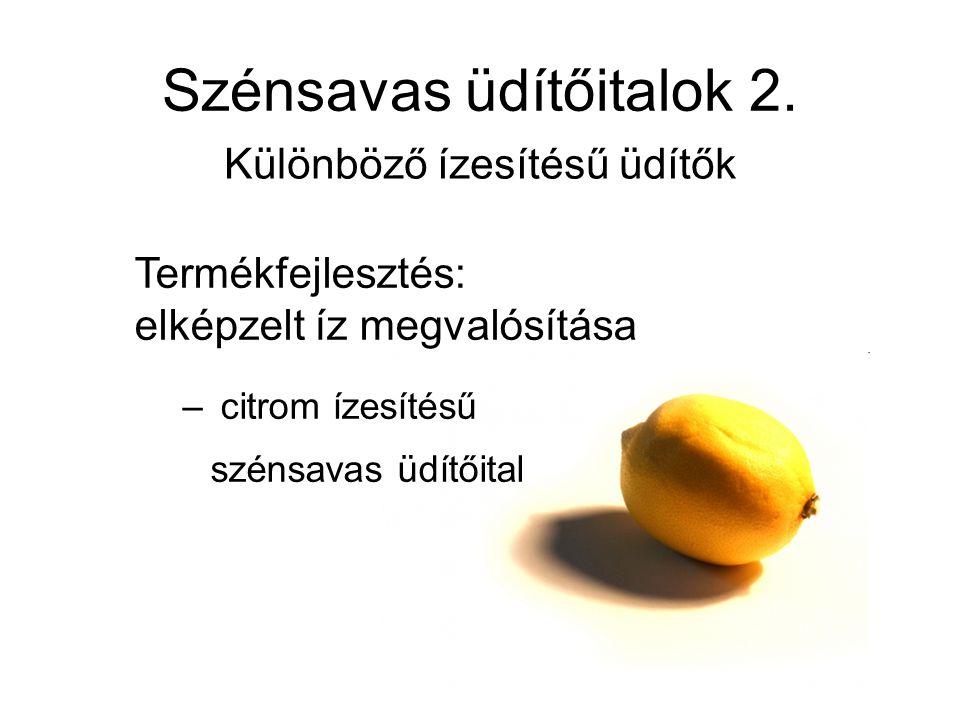 Szénsavas üdítőitalok 2.