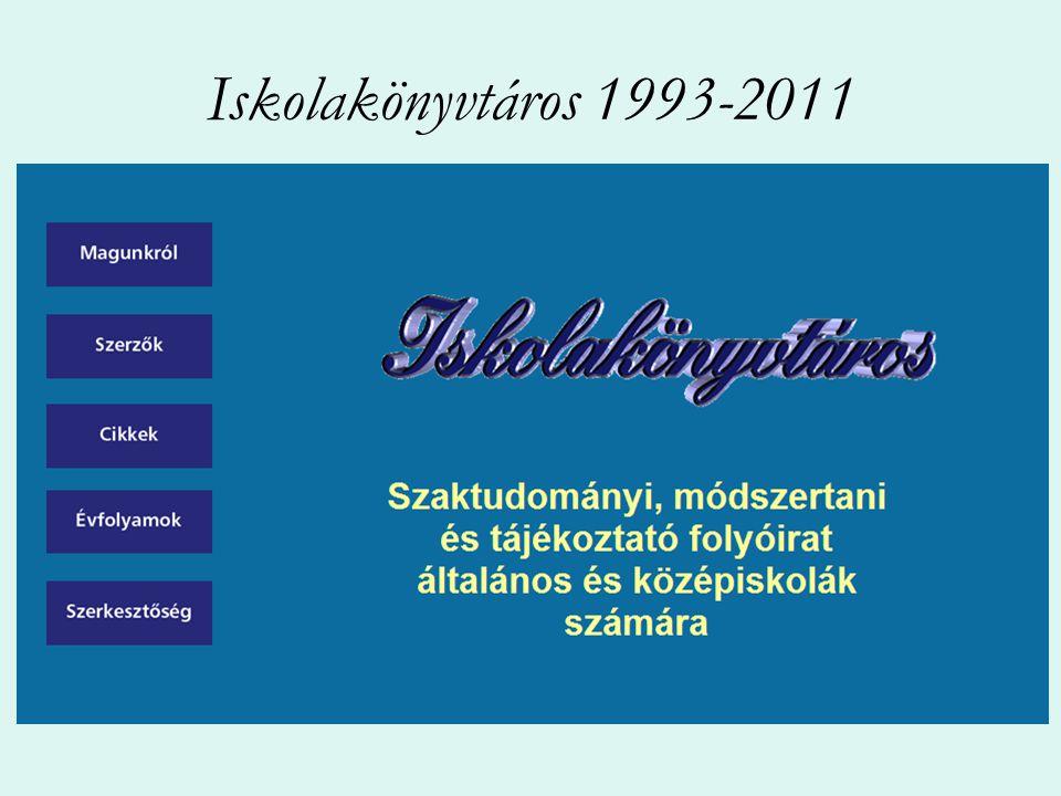 Iskolakönyvtáros 1993-2011