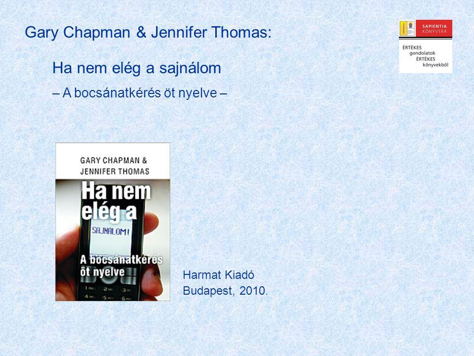 Gary Chapman & Jennifer Thomas: