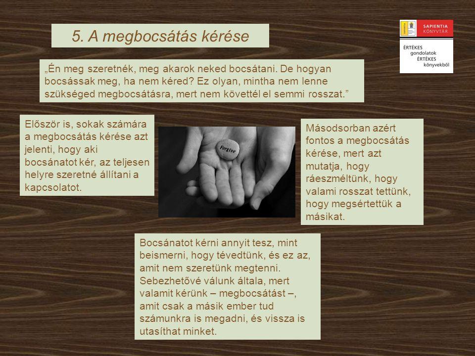 5. A megbocsátás kérése