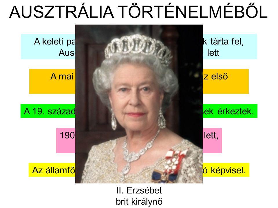 AUSZTRÁLIA TÖRTÉNELMÉBŐL