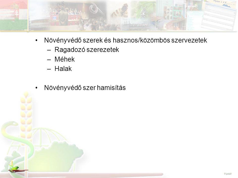 Növényvédő szerek és hasznos/közömbös szervezetek