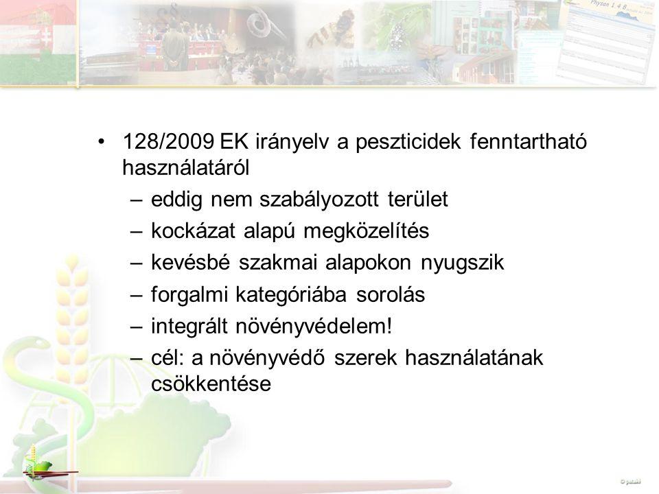128/2009 EK irányelv a peszticidek fenntartható használatáról