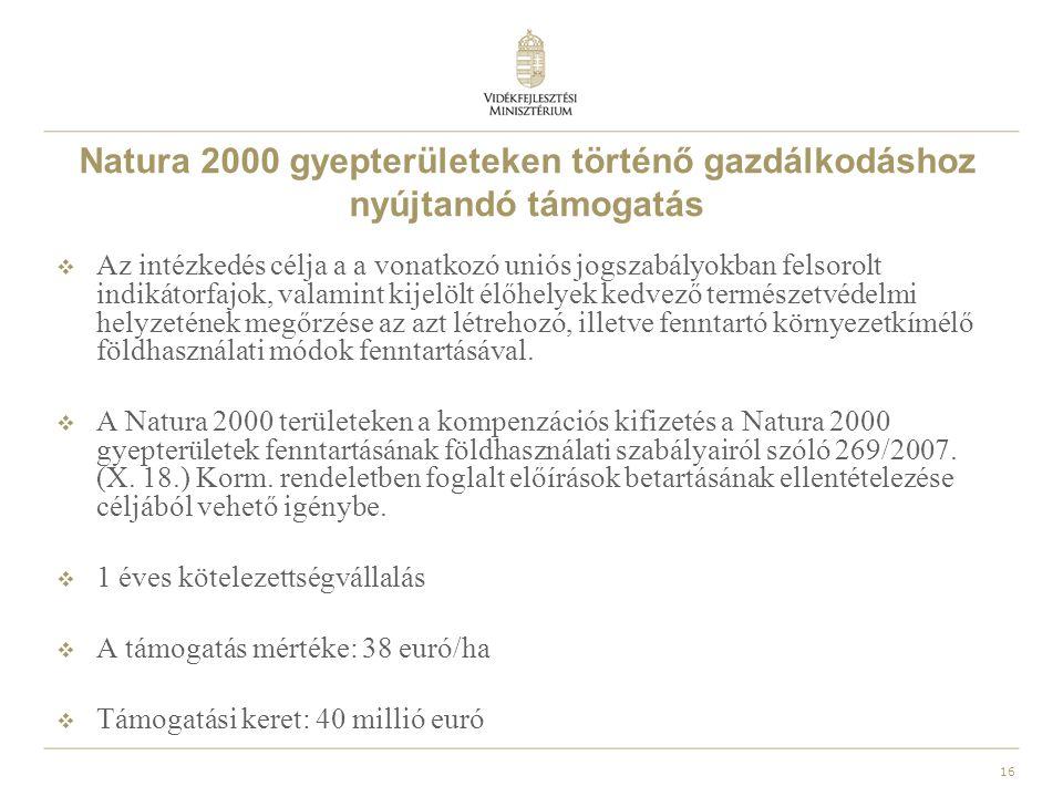 Natura 2000 gyepterületeken történő gazdálkodáshoz nyújtandó támogatás
