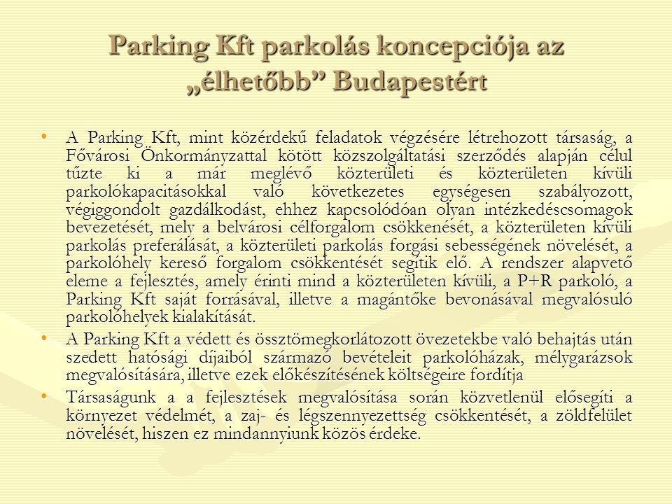 """Parking Kft parkolás koncepciója az """"élhetőbb Budapestért"""