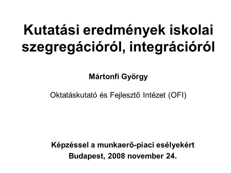 Képzéssel a munkaerő-piaci esélyekért Budapest, 2008 november 24.