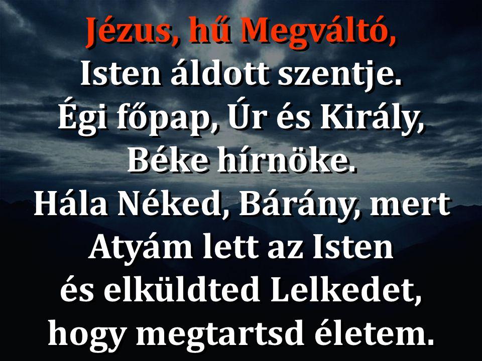 Égi főpap, Úr és Király, Béke hírnöke.