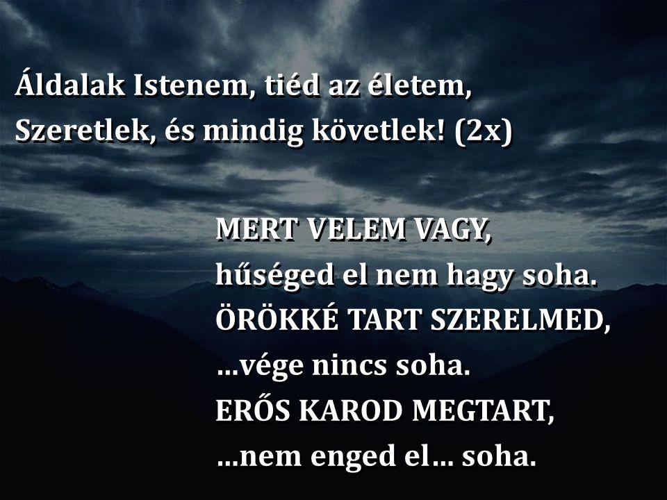 Áldalak Istenem, tiéd az életem, Szeretlek, és mindig követlek! (2x)