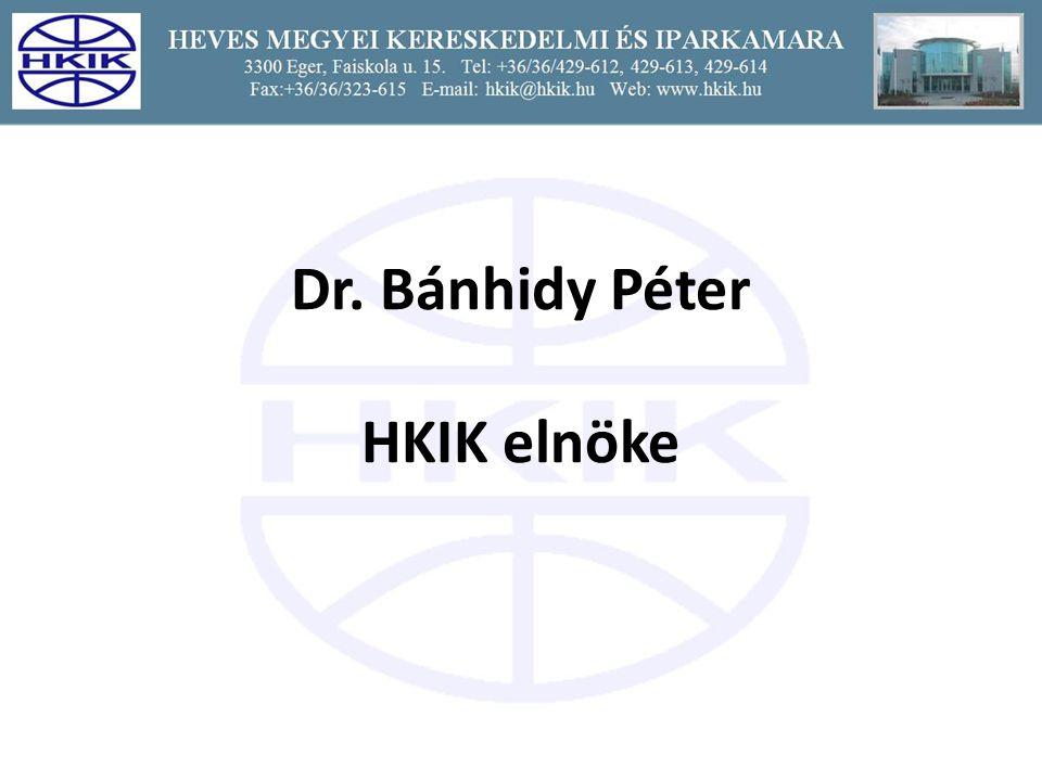 Dr. Bánhidy Péter HKIK elnöke