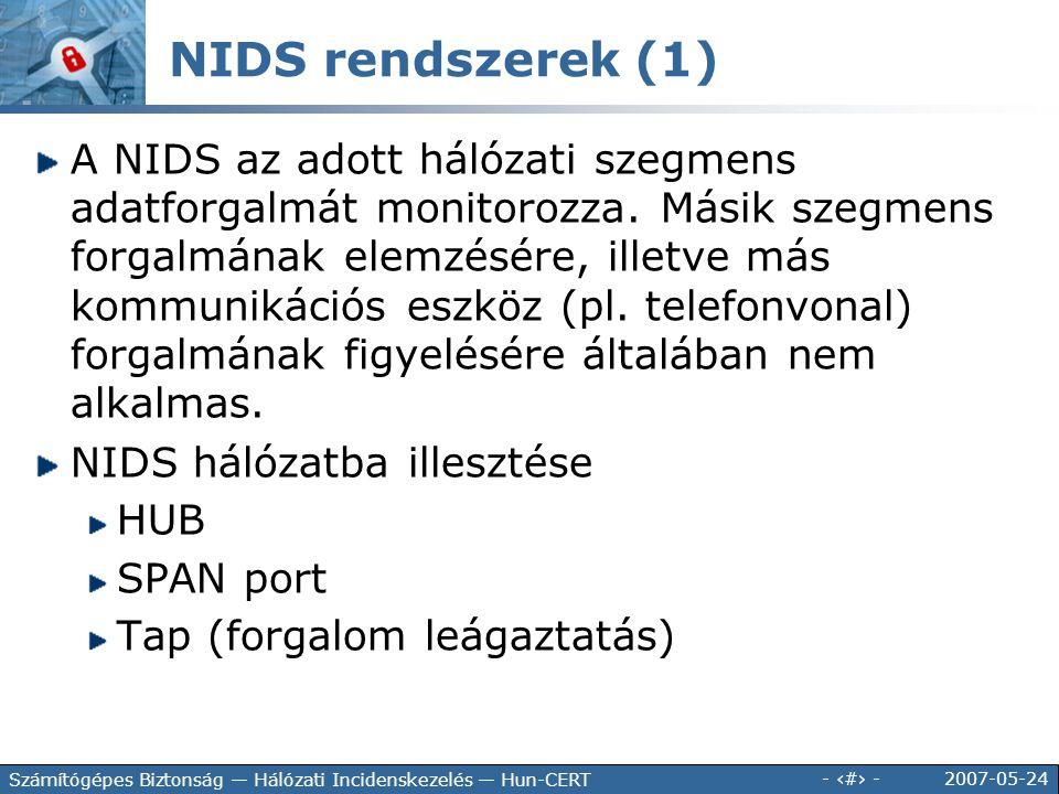 NIDS rendszerek (1)