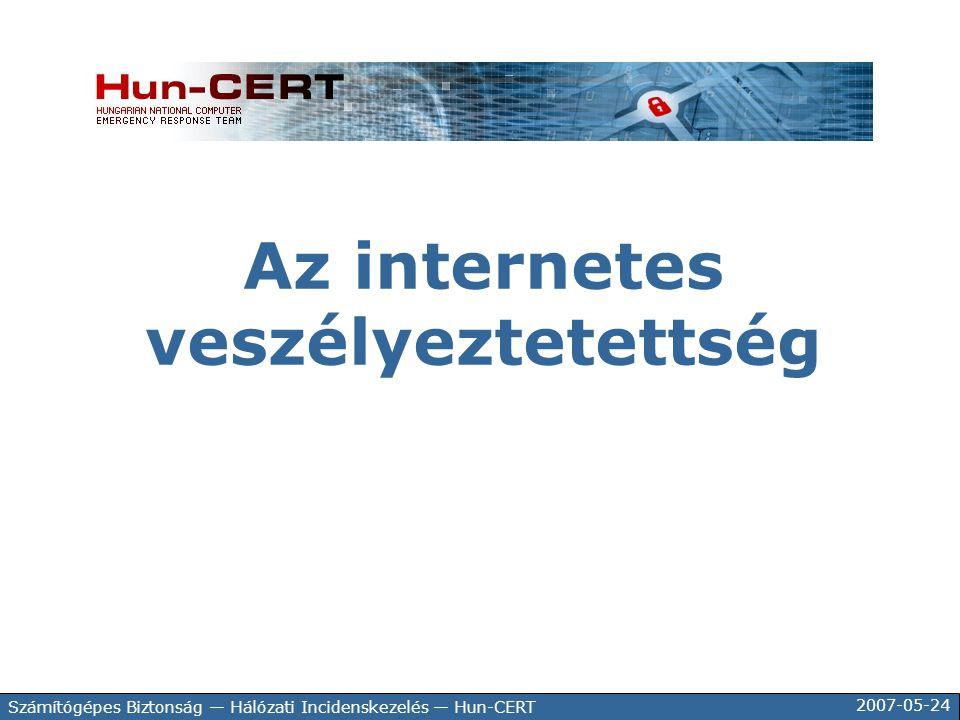 Az internetes veszélyeztetettség