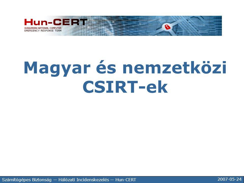 Magyar és nemzetközi CSIRT-ek