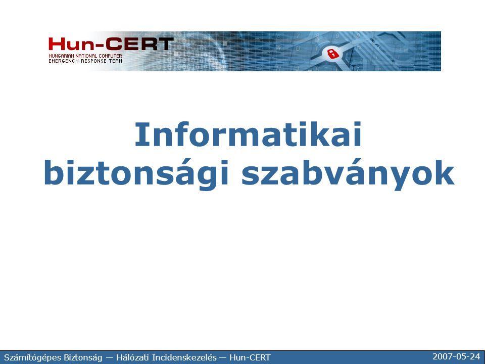 Informatikai biztonsági szabványok