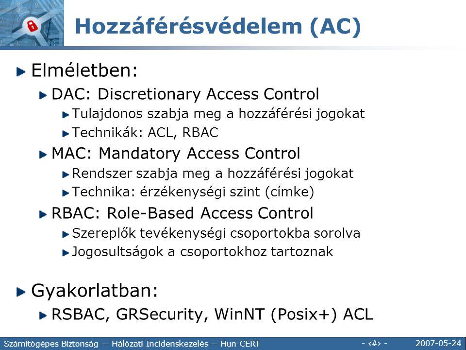 Hozzáférésvédelem (AC)
