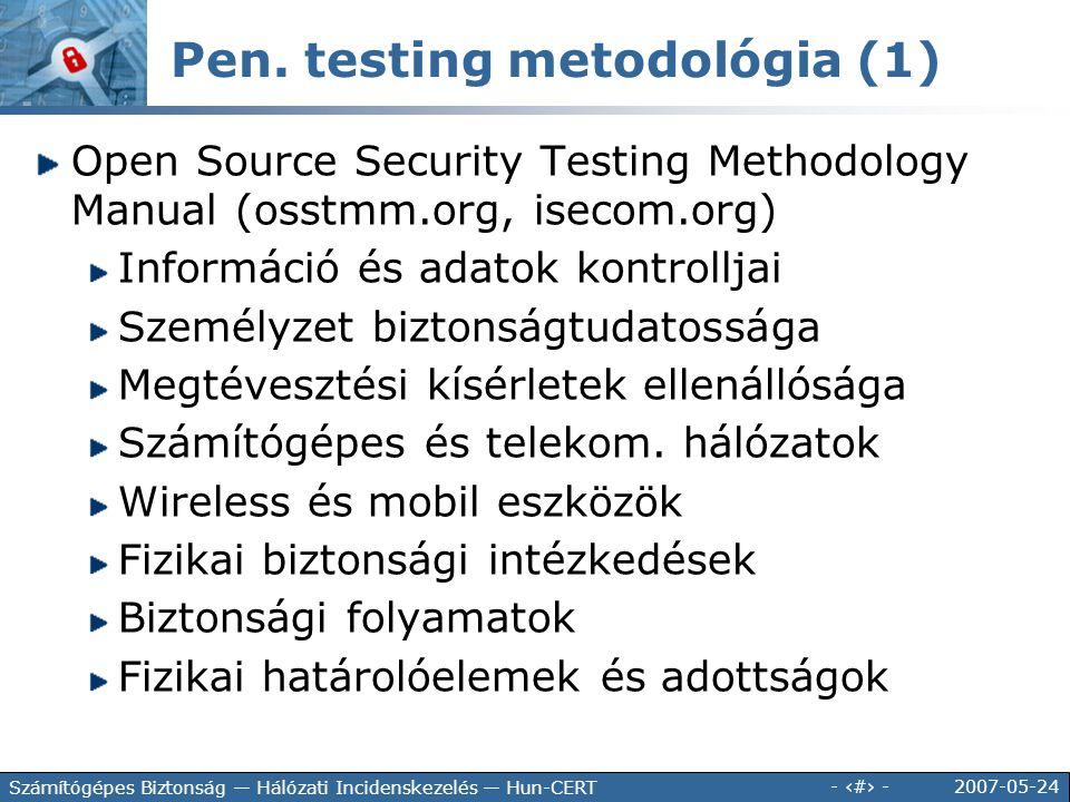 Pen. testing metodológia (1)