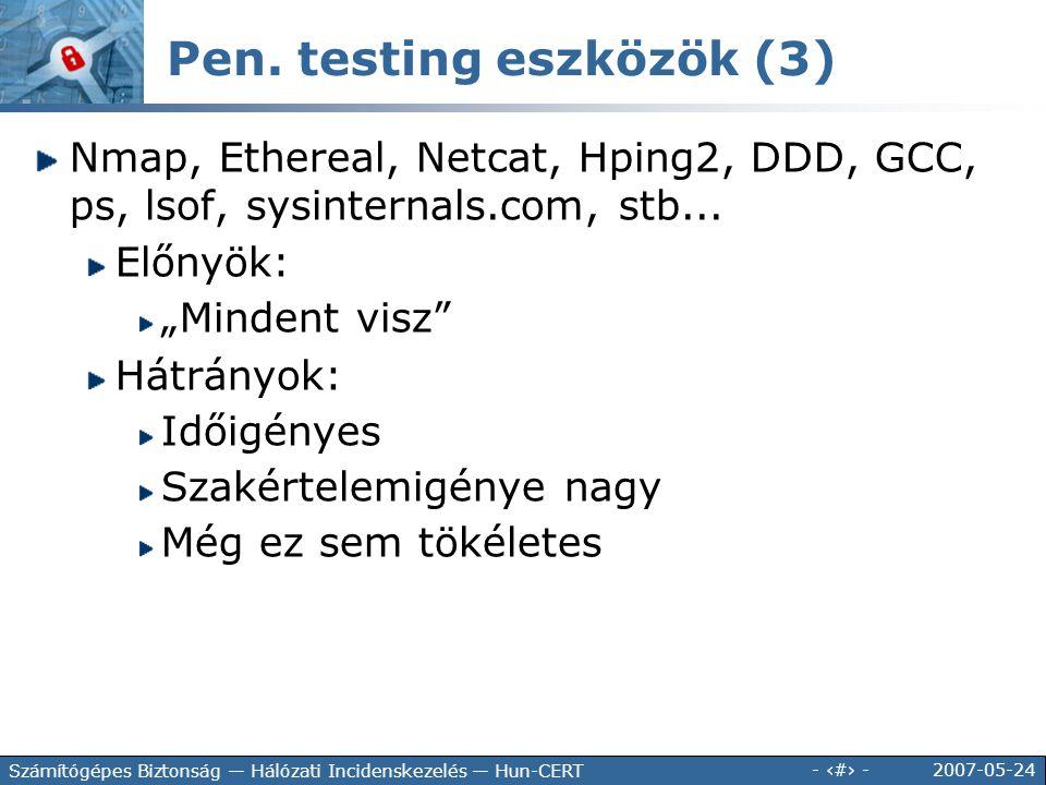 Pen. testing eszközök (3)