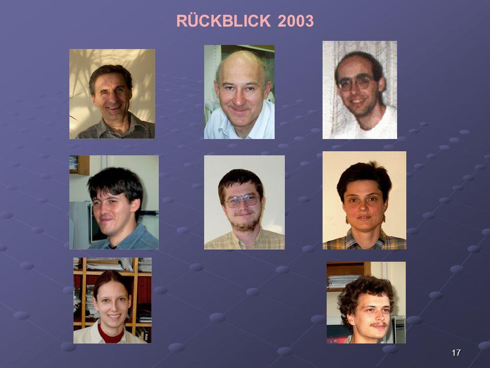 RÜCKBLICK 2003