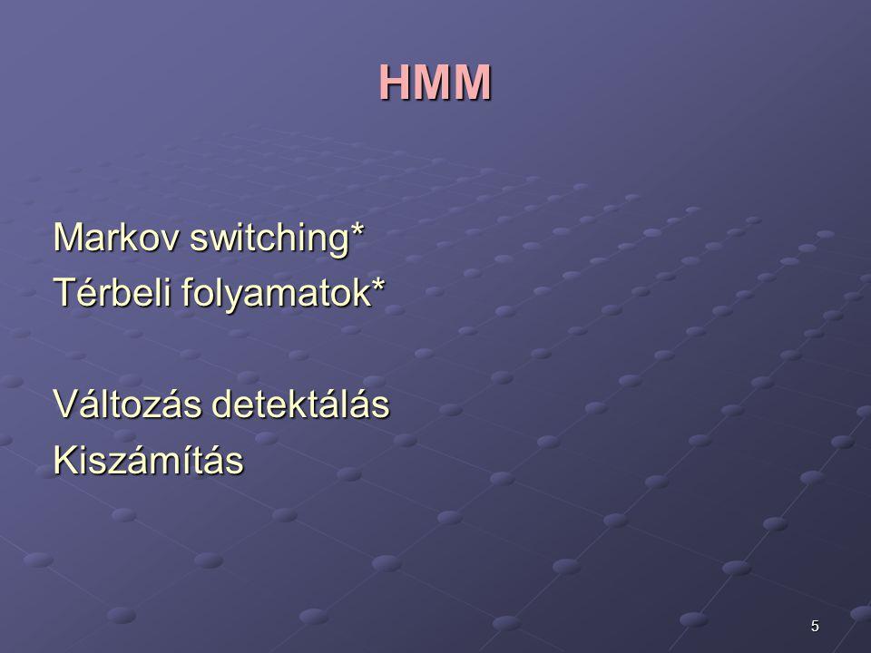 HMM Markov switching* Térbeli folyamatok* Változás detektálás