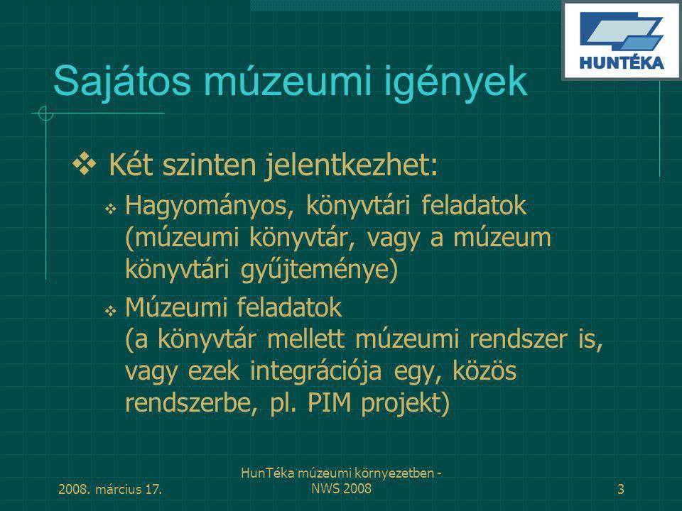 Sajátos múzeumi igények