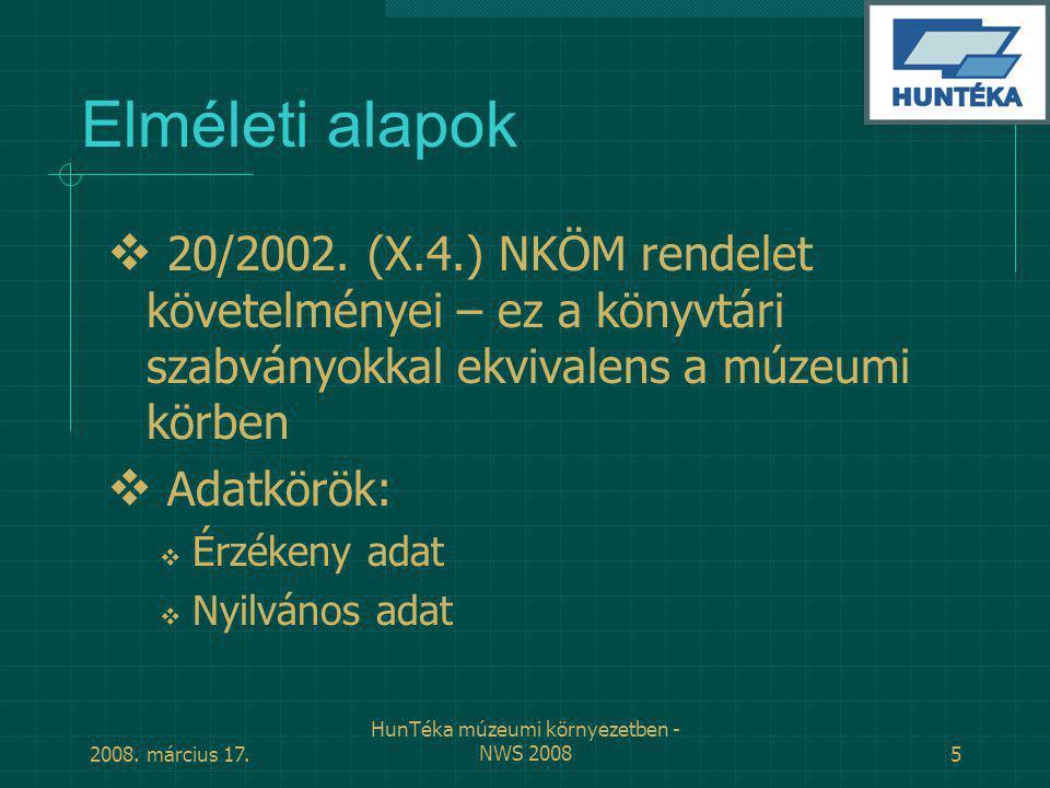 HunTéka múzeumi környezetben - NWS 2008