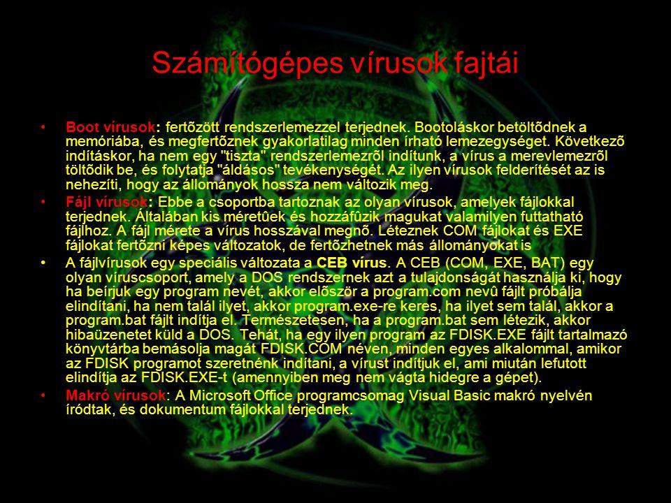 Számítógépes vírusok fajtái