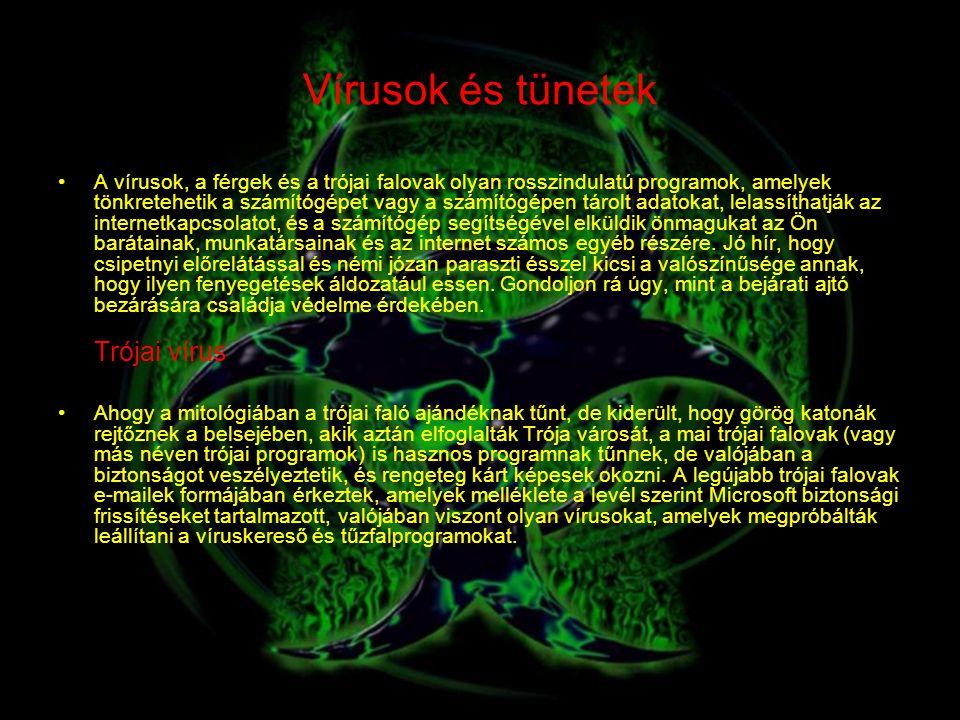 Vírusok és tünetek