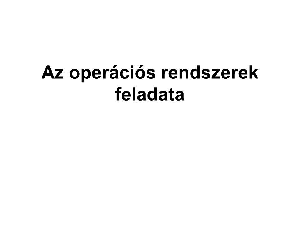 Az operációs rendszerek feladata
