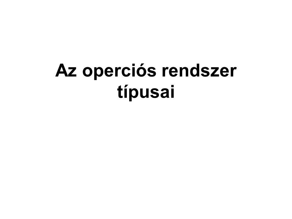 Az operciós rendszer típusai