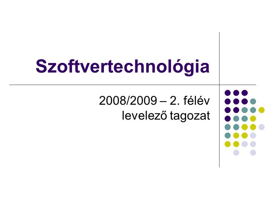 2008/2009 – 2. félév levelező tagozat