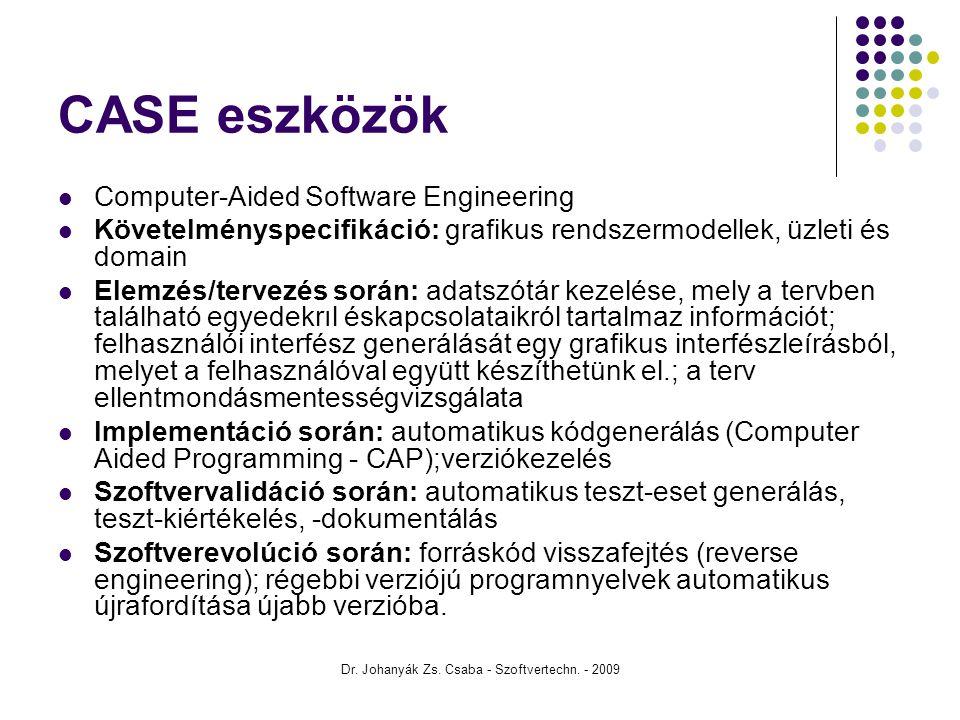 Dr. Johanyák Zs. Csaba - Szoftvertechn. - 2009