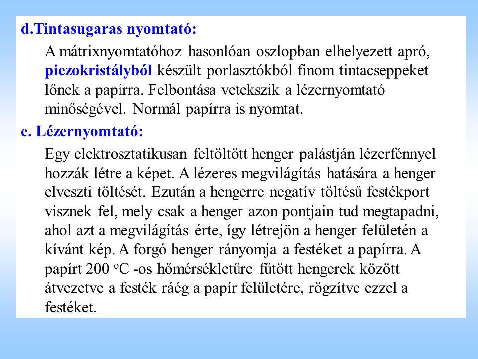 d.Tintasugaras nyomtató: