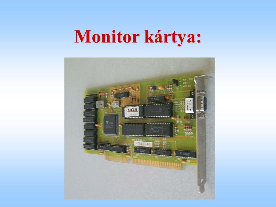 Monitor kártya: