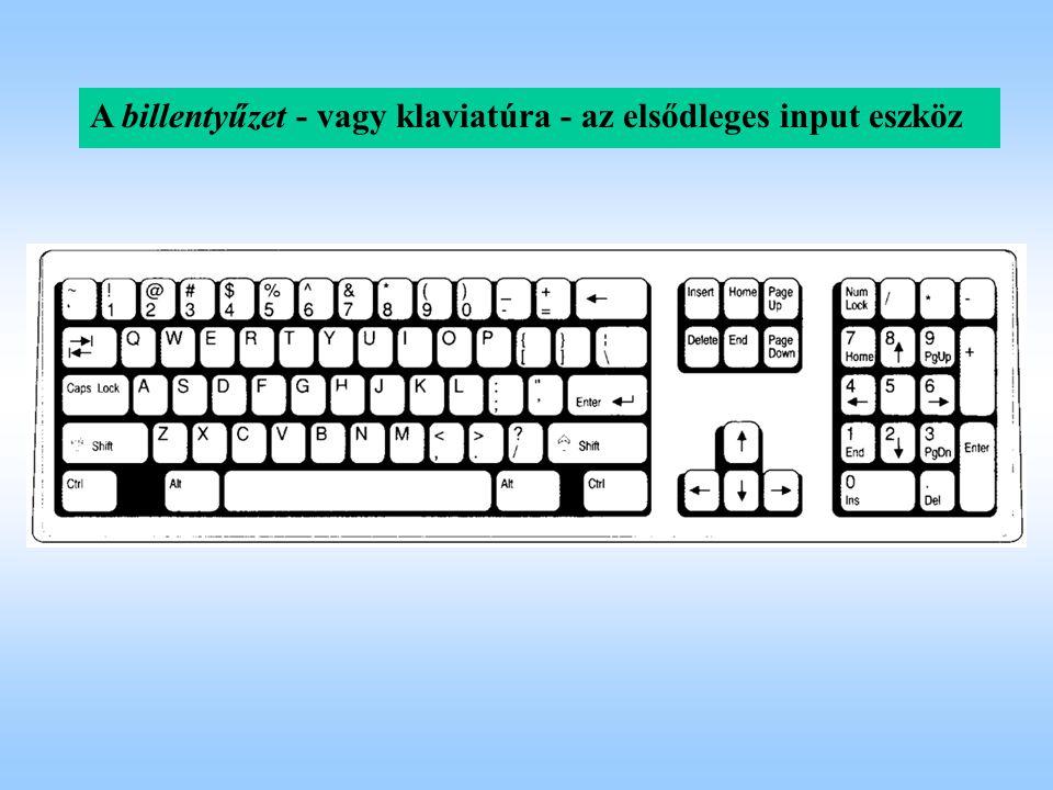 A billentyűzet - vagy klaviatúra - az elsődleges input eszköz