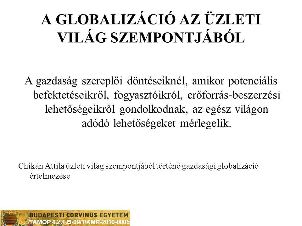 A GLOBALIZÁCIÓ AZ ÜZLETI VILÁG SZEMPONTJÁBÓL
