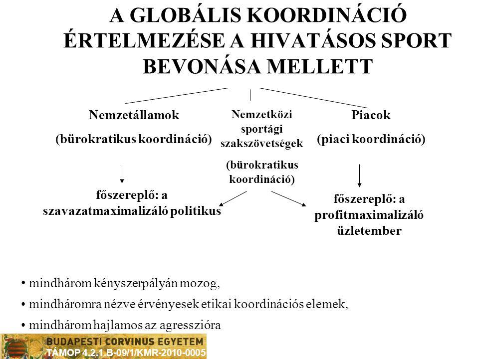 A GLOBÁLIS KOORDINÁCIÓ ÉRTELMEZÉSE A HIVATÁSOS SPORT BEVONÁSA MELLETT