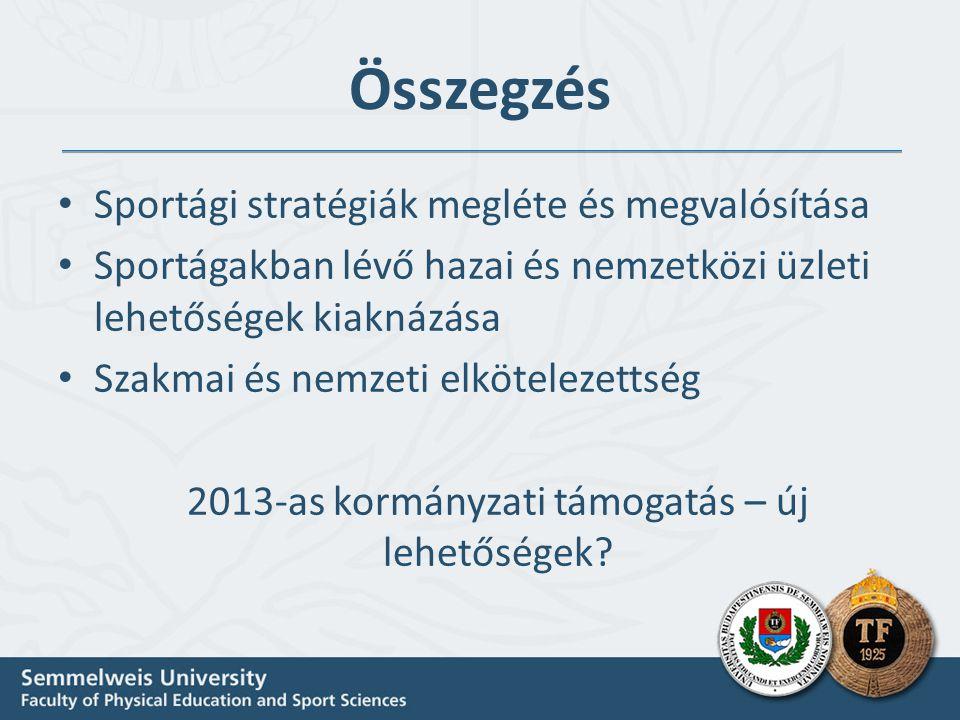 2013-as kormányzati támogatás – új lehetőségek