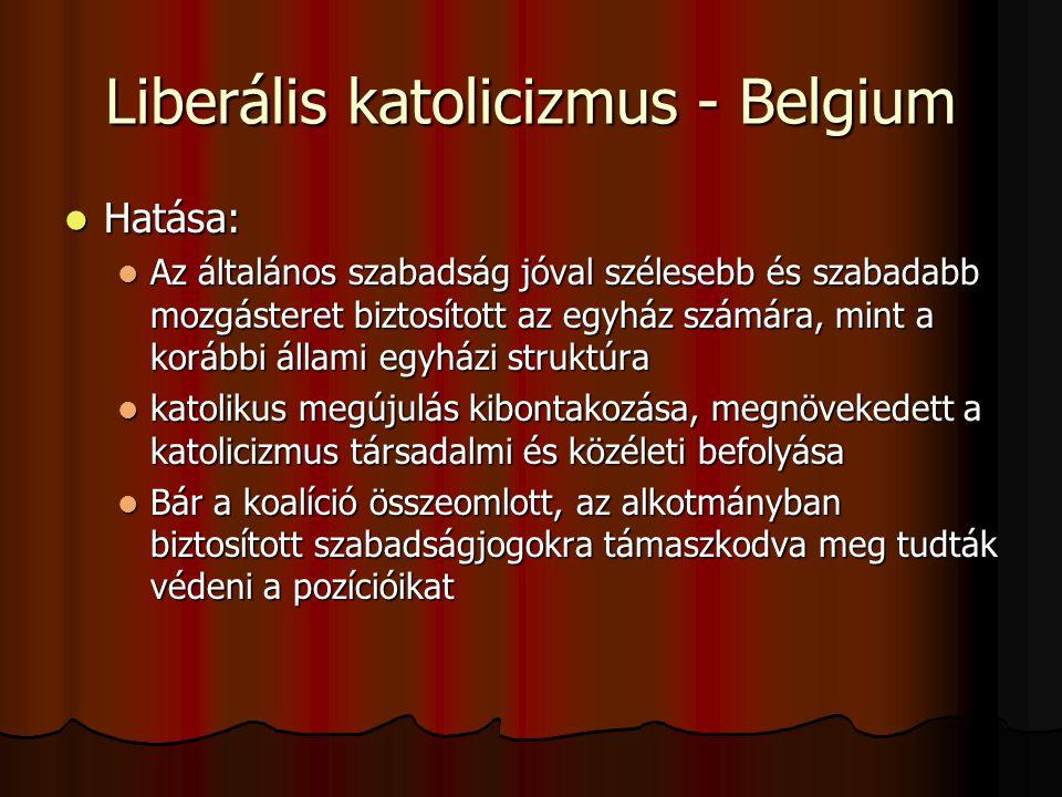 Liberális katolicizmus - Belgium