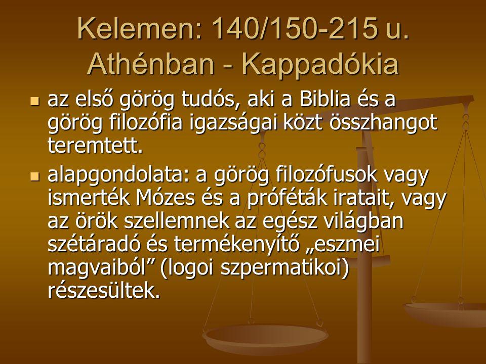 Kelemen: 140/150-215 u. Athénban - Kappadókia