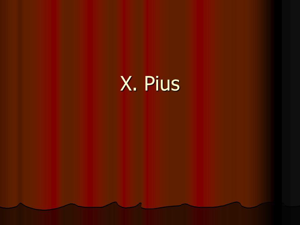 X. Pius