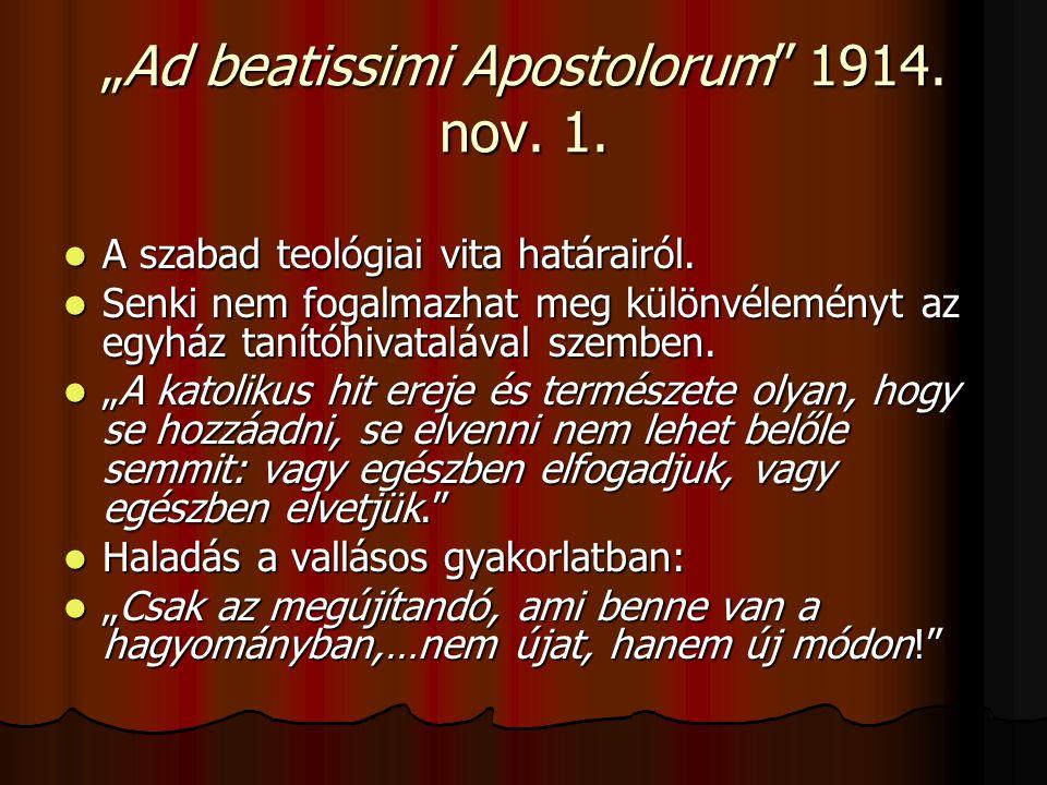 """""""Ad beatissimi Apostolorum 1914. nov. 1."""