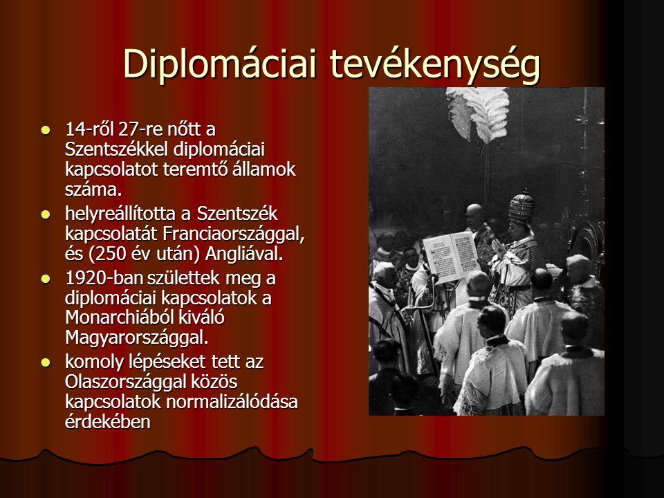 Diplomáciai tevékenység