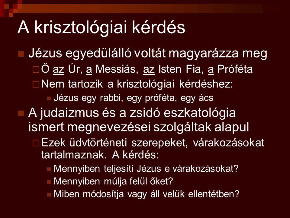 A krisztológiai kérdés