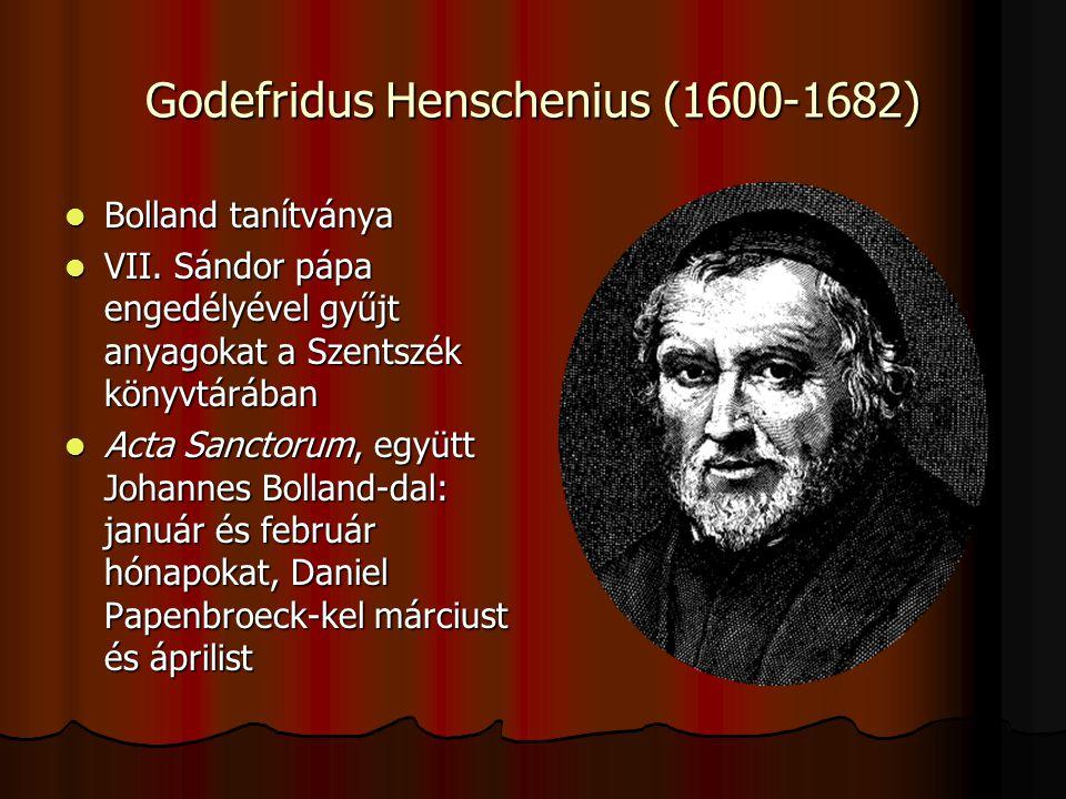Godefridus Henschenius (1600-1682)