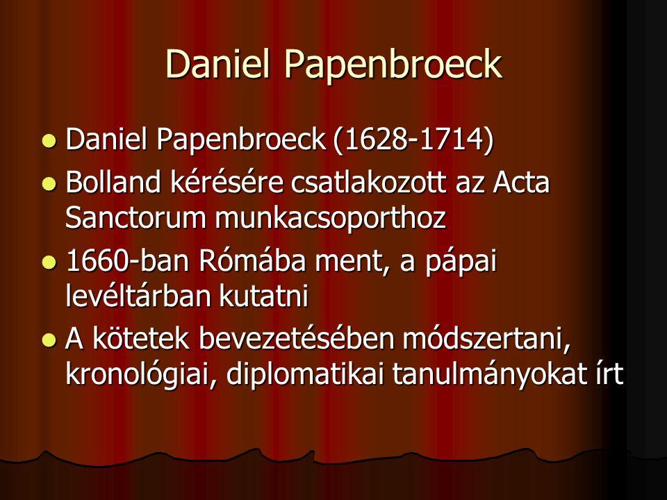Daniel Papenbroeck Daniel Papenbroeck (1628-1714)