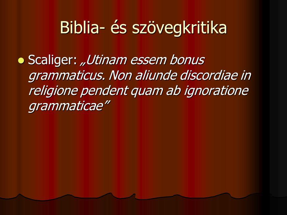 Biblia- és szövegkritika