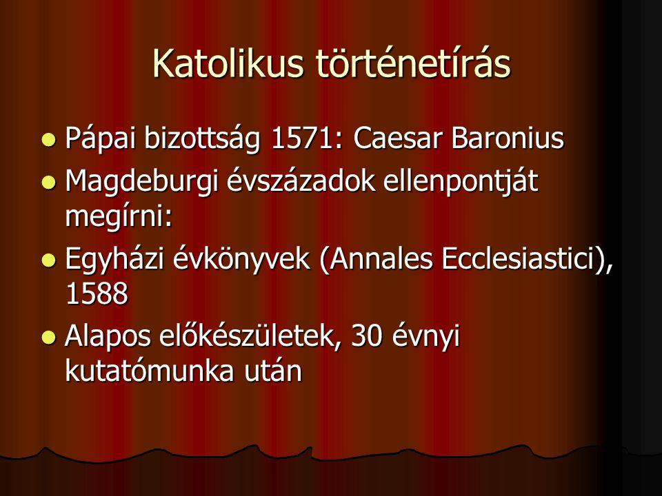 Katolikus történetírás